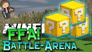 getlinkyoutube.com-Minecraft: LUCKY BLOCK BATTLE-ARENA FFA! Modded Mini-Game w/Mitch & Friends!