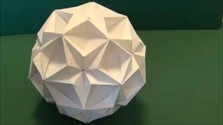 """「星のくすだま」折り紙""""Kusudama of star""""origami"""