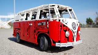 getlinkyoutube.com-LEGO Volkswagen Type 2 T1, HIPPIE VAN FULL REMOTE CONTROLLED! by Sheepo