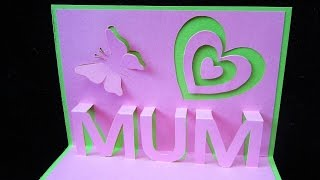 getlinkyoutube.com-Mother's day pop up card - learn how to make a popup card as a gift for mum (mom) - EzyCraft
