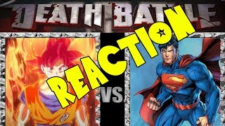 getlinkyoutube.com-Super Saiyan God Goku VS Superman | DEATH BATTLE | ScrewAttack! Reaction