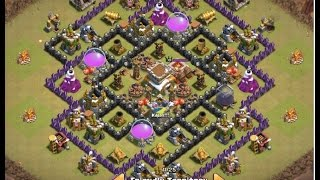 getlinkyoutube.com-Clash of Clans 2015 | TH8 War Base | THE END | Anti- Dragon | Anti- Hogs | Anti 3 Stars | Routing