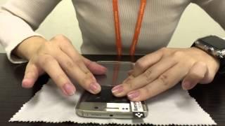 getlinkyoutube.com-Galaxy S6 edge フィルム カーブドクリスタル