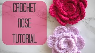 getlinkyoutube.com-CROCHET: How to crochet a rose/flower | Bella Coco
