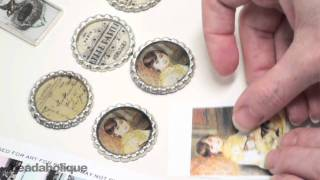 getlinkyoutube.com-How to Prepare Images in Pendants for Resin Using Mod Podge