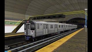 OpenBVE HD: NYC Subway Kawasaki R110A [New Release] on The 1 Local Train (11/29/16)