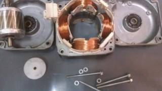 getlinkyoutube.com-AC INDUCTION MOTOR CONVERSION TO AC PERMANENT MAGNET GENERATOR