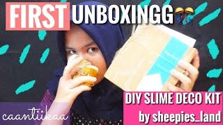 DIY SLIME DECO KIT by sheepies land || UNBOXING #1