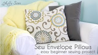 getlinkyoutube.com-How to Sew an Envelope Pillow Cover - Easy Sewing Project