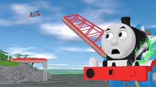 getlinkyoutube.com-TOMICA Thomas & Friends Short 45: The Great Bridge Jump (Draft Animation - Behind the Scenes)