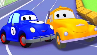 Tom the Tow Truck and the blue Racing Car in Car City | Cars & Trucks Cartoons for Kids Toddlers