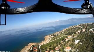 getlinkyoutube.com-Vltoys v666 flight with wide angle Mobius camera