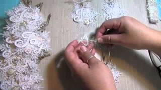 getlinkyoutube.com-2014 Shabby Chic Christmas handmade ornaments!