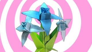 getlinkyoutube.com-Origami Edelweiss Flower + Stem Instructions