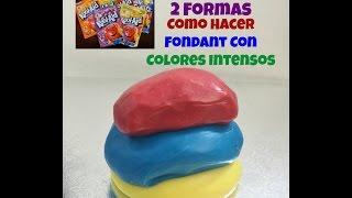 getlinkyoutube.com-Fondant Con Colores Intensos Muy Facil De Hacer!