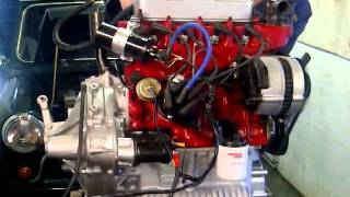 getlinkyoutube.com-Classic mini, A-Series MetroTurbo engine bench test.