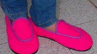 getlinkyoutube.com-Como Hacer Zapatos En Crochet Todas Las Tallas