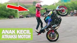 Takjub!! Stunt Rider Cilik adiknya Wawan Tembong - ATRAKSI FREESTYLE MOTOR Yamaha MT25 (Indonesia)