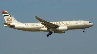 Etihad airways landing in calicut airport