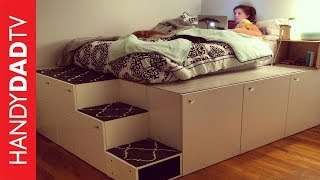 getlinkyoutube.com-IKEA Hack Platform Bed DIY