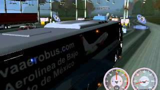 getlinkyoutube.com-Volvo 9700 luxury 18 wos haulin (pasando caseta GDL-MEX)