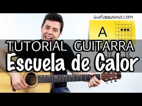 COMO TOCAR ESCUELA DE CALOR EN GUITARRA DE RADIO FUTURA ACORDES Y RITMO TUTORIAL guitar cover