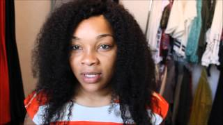 getlinkyoutube.com-Water Only Hair Wash Regimen (4C Hair) 31 day review.