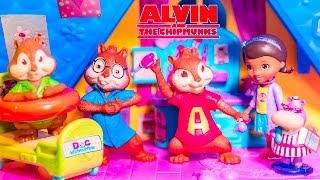 getlinkyoutube.com-DOC MCSTUFFINS Disney ALVIN AND THE CHIPMUNKS  Tummy Ache Disney Video Toy Parody