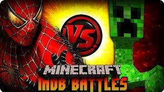 getlinkyoutube.com-Minecraft Mod - MUTANT CREEPER VS SPIDERMAN ! Mob Battle (SUPERHERO MOD)