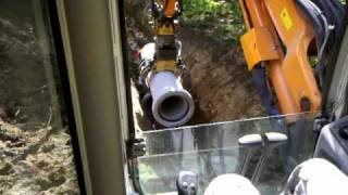 getlinkyoutube.com-Kubota KX080 sewer construction