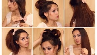 getlinkyoutube.com-Running Late? Quick & Easy Hairstyles for School ♡ Heatless Tutorial