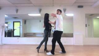 getlinkyoutube.com-Salsa Lesson - Outside Turns, Windmills, HammerLock combo - Latin Level 2 - Nuvitzo Dance