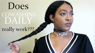 getlinkyoutube.com-Cowashing my Hair Everyday UPDATE | Did it improve my HAIR?