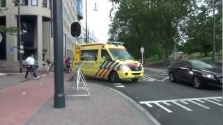 getlinkyoutube.com-A1 Ambulance 07-116 staat vast in verkeer, A1 07-113 naar Huissen, A1 08-126 naar Groesbeek