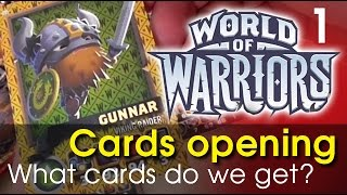 getlinkyoutube.com-World of Warriors Cards opening - see what cards we get