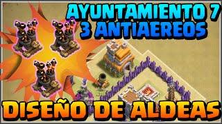 getlinkyoutube.com-DISEÑO GUERRA AYUNT 7 - 3 ANTIAEREOS - CONSEJOS -A por todas con Clash of Clans - Español - CoC