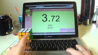 getlinkyoutube.com-Rubik's Cube Solved in 3.72 Seconds (stupid scramble lol)