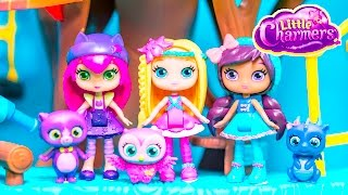 getlinkyoutube.com-LITTLE CHARMERS Nickelodeon Little Charmers Hazel + Lavender Little Charmers Video Toy Review