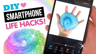 getlinkyoutube.com-8 DIY Smartphone Photography Hacks Using The SPARKLIEST Slime Ever Made!!!