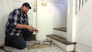 getlinkyoutube.com-How to Remove Tile From a Hardwood Floor : Flooring Maintenance