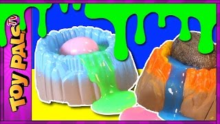 getlinkyoutube.com-Dinosaur SLIME SURPRISE EGGS: The Good Dinosaur Toys Clay Goo Slime Ooze YUCK!