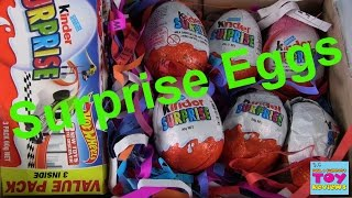 Kinder Surprise Eggs Opening | Minions Barbie Hot Wheels | PSToyReviews