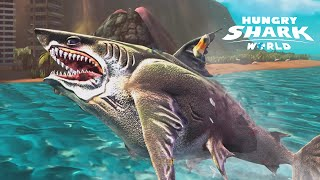 getlinkyoutube.com-Hungry Shark World - Megalodon | Biggest Shark Ever