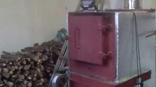 getlinkyoutube.com-Пиролизный котел + ТА 4000л. Отопление производства
