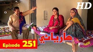 Hareyani Ep 251  Sindh TV Soap Serial    28 6 2018   HD1080p  SindhTVHD Drama