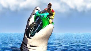 getlinkyoutube.com-RACER vs. SHARKS IN GTA 5! (GTA 5 Funny Moments)