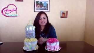 getlinkyoutube.com-Como hacer un centro de Mesa para Baby Shower