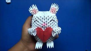 getlinkyoutube.com-Origami 3D Conejo con Corazón