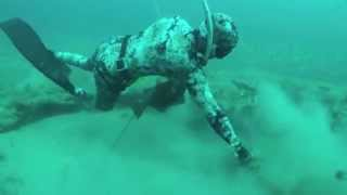 getlinkyoutube.com-Spearfishing World Record Grouper and giant Lobsters
