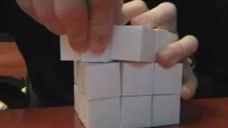 getlinkyoutube.com-Paper Mechanics: 3 x 3 x 3 Rubik's Cube